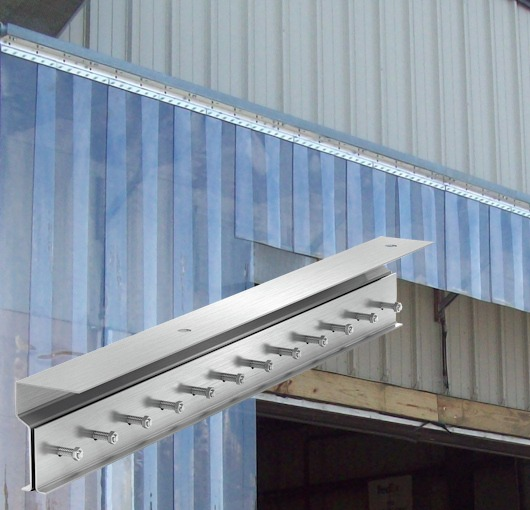 strip door curtain hardware