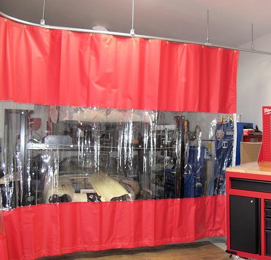 garage divider curtains