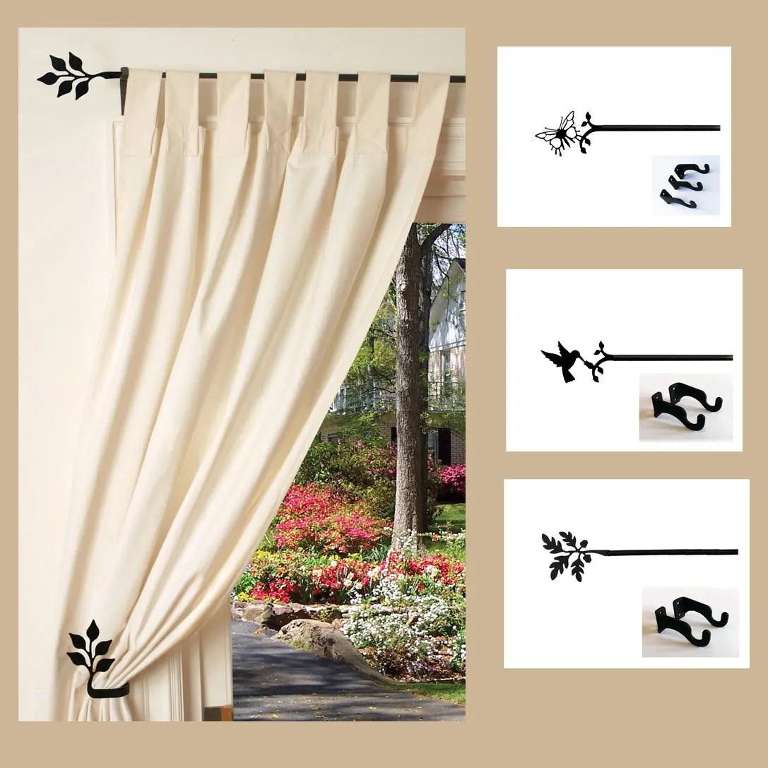 adjustable curtain rods