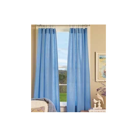Savannah Seersucker Tailored Curtains