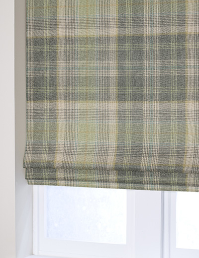 Curtain Woven Check Milton Green Next Made To Measure