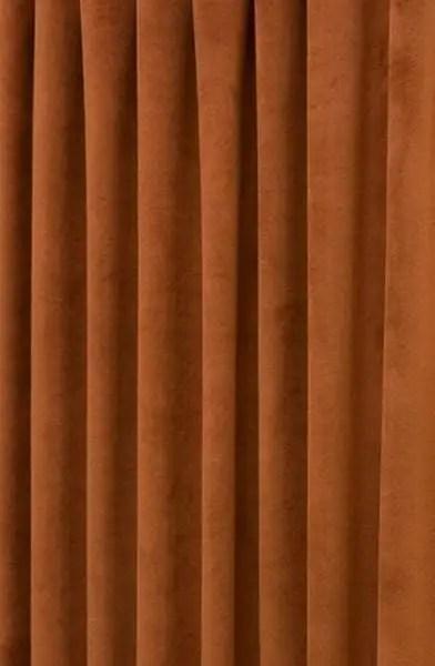 Hilton Velvet Terracotta Made To Measure Curtains