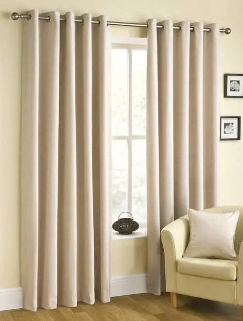 Rico Eyelet Natural Ready Made Curtains