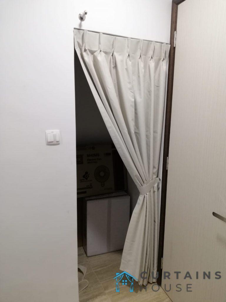 single panel curtain door curtains