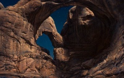 Moonlight on Double Arch