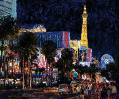 las vegas strip nocturne 10x12Collection of Dick and Vickie Van House