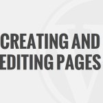 Creating & Editing Pages