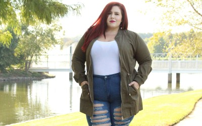 Plus Size Fall Utility Jacket Look