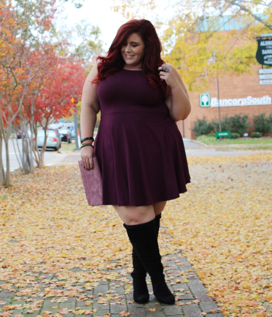 Plus Size Plum Fall Look