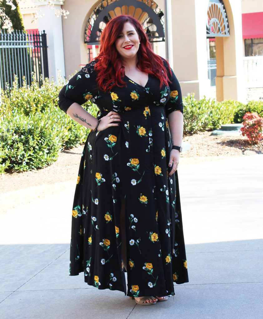 2ec6fa9d71cf Plus Size Challis Maxi Dress | Curves, Curls and Clothes