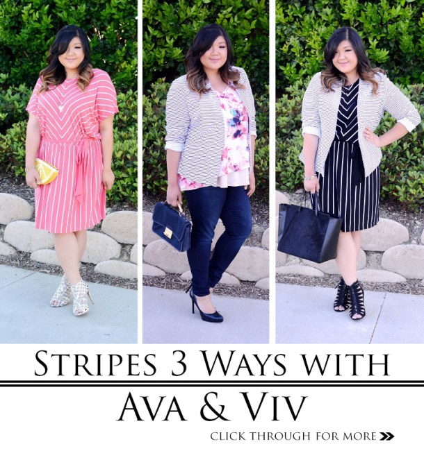 ff48a9ef1b9 Curvy Girl Chic Plus Size Fashion Blog Target Ava   Viv 3 Striped Outfit  Ideas