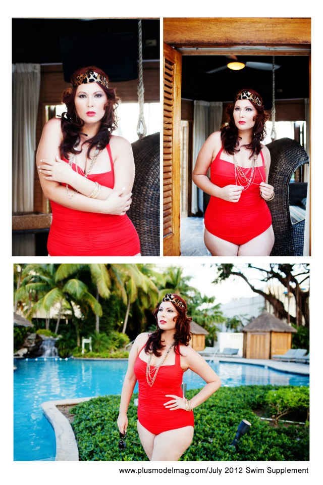 Vanessa Velez's Swimsuit Editorial for PLus Model Magazine 2012