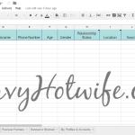 The Hotwife Spreadsheet