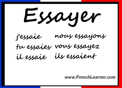 Essayer conjugation french passe compose docoments ojazlink