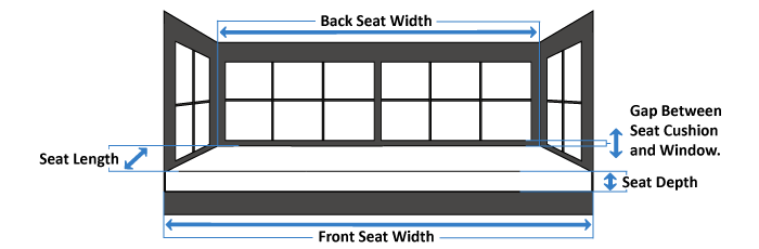 Made Measure Window Seat Cushions