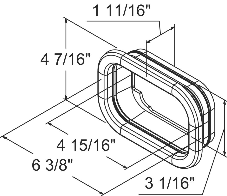 5 1 2 Rectangular Rubber Grommet