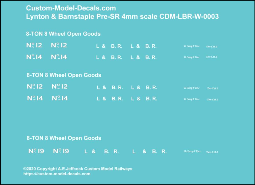 CMD-LBR-W-0003 Lynton & Barnstaple 8 Ton Bogie Goods Wagons