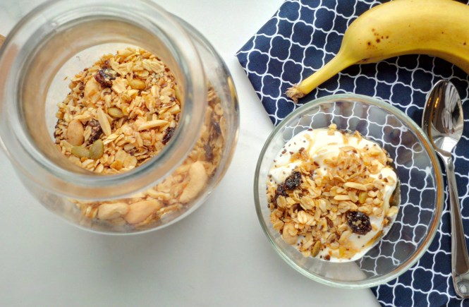easy fiber protein packed granola