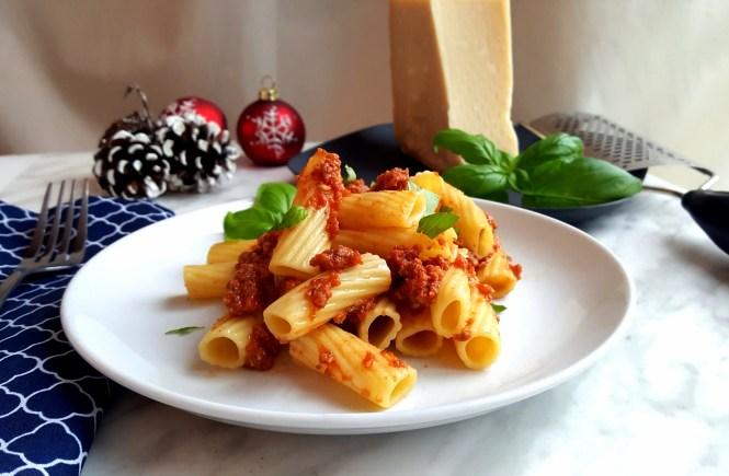 mushroom sausage pasta