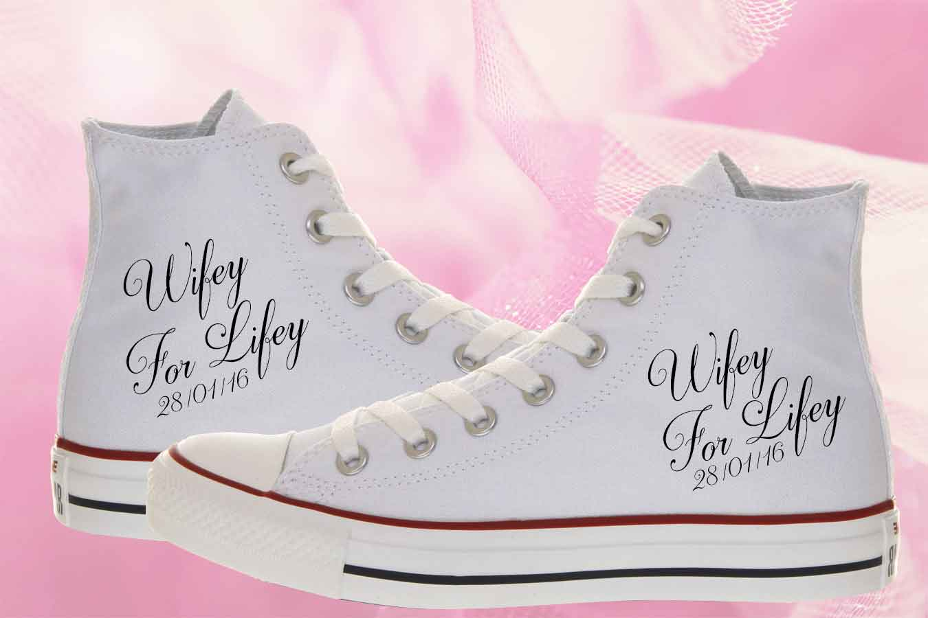 Wifey For Lifey Bride Converse Shoes