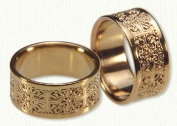 Byzantine Wedding Rings Gold Platinum Custom DeSign