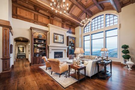 Custom barrel ceiling in great room