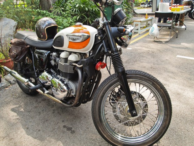 Triumph Bonneville at Ride Free Sg