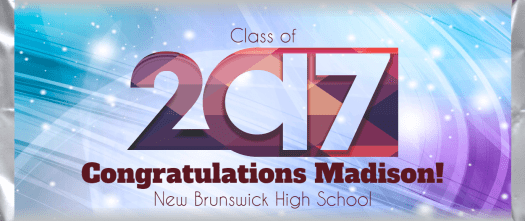 Graduation 2017-01 Class of 2017 custom and personalized candy bar wrapper design