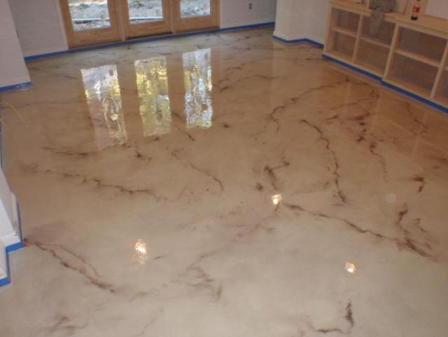 Metallic epoxy mirrors light and also supplies the finished flooring a ...