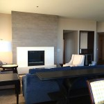Concrete Fireplace Surround in Living Area
