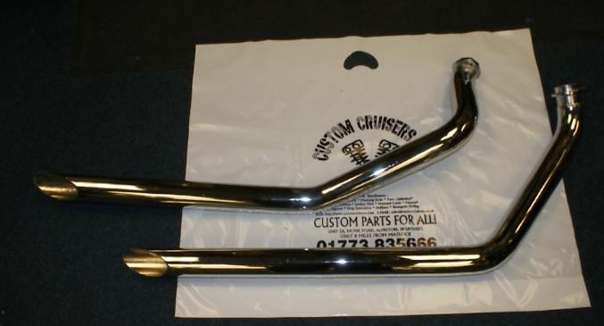harley davidson shovelhead exhaust drag pipes 2 1970 1984