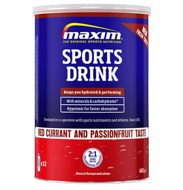 MAXIM SPORTS DRINK RED CURRANT/PASSION FRUIT
