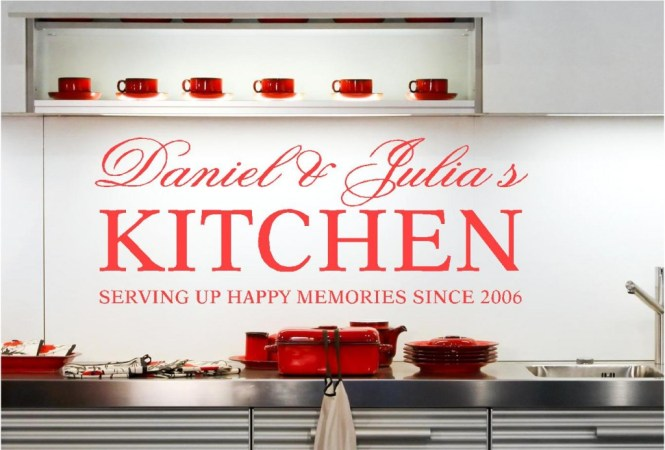 Kitchen Rules Wall Sticker Quote Heart Of The Home Love Art
