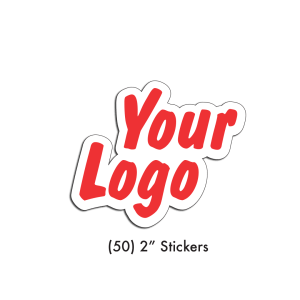 "Upload artwork for (50) 2"" stickers, any shape any color"