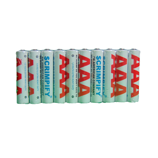 Pack of 10 AAA Scrimpify Batteries