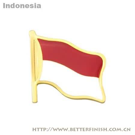 Wholesale Indonesia flag pin