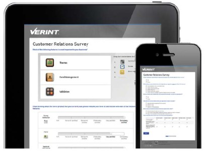 FIGURE 4: Verint Mobile Enterprise Feedback Management empowers customers to give feedback from anywhere using their mobile devices