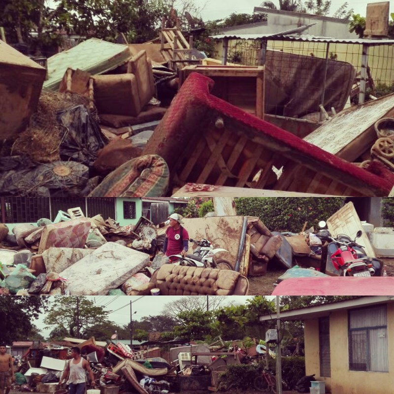The Ruined Contents Of Homes In Upala, Costa Rica