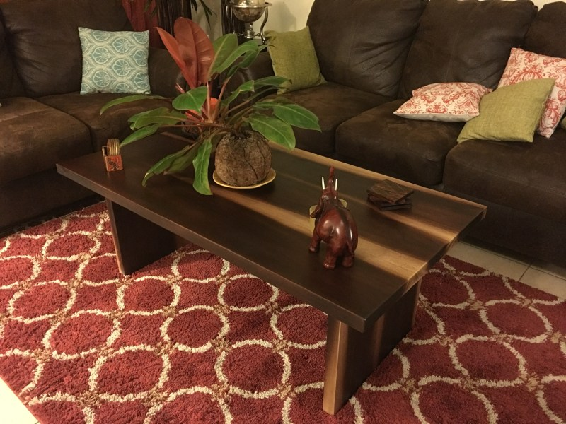rectangle coffee table in two colors