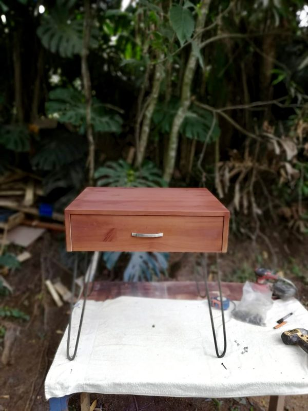 Side Table with Hairpin Legs