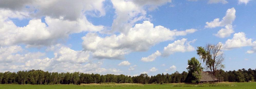 little log cabin heart clouds