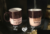 Color changing mug with Solemnly swear I am up to no good designed on it