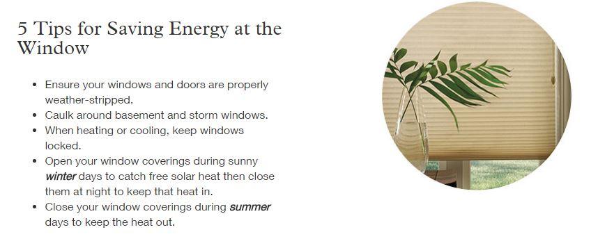 window treatments energy