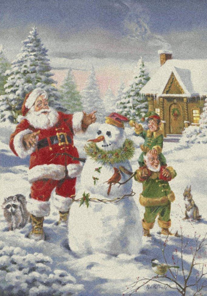 Milliken Holiday Area Rugs - Santa's Friends