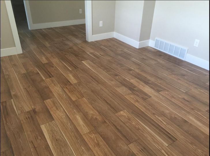 The unmatched beauty of a Mannington floor in Sawmill Hickory.