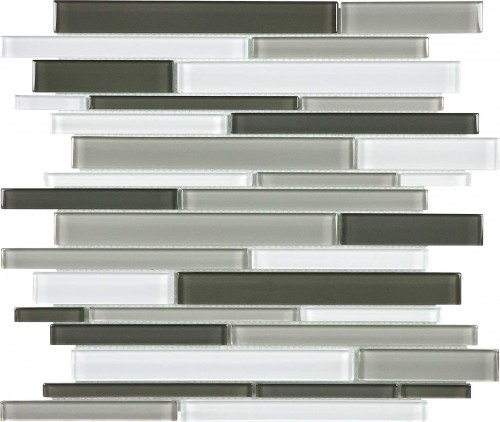 Virginia Tile Ceramic Tiles International Glass Tile Debut Contrast Blend Random Linear Mosaic