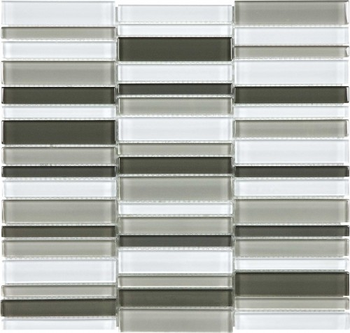 Virginia Tile Ceramic Tiles International Glass Tile Debut Contrast Blend Stacked Mosaic