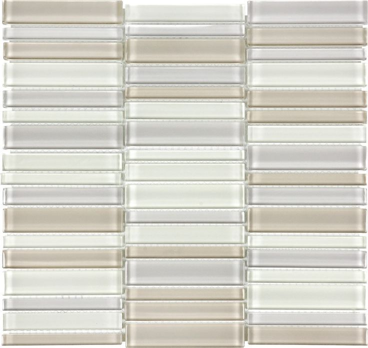 Virginia Tile Ceramic Tiles International Glass Tile Debut Dune Blend Stacked Mosaic