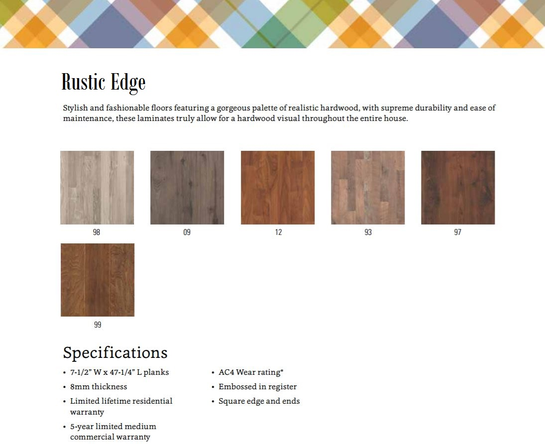 Rustic Edge - SP16 - Mohawk Laminate - 50% OFF - Color Bank
