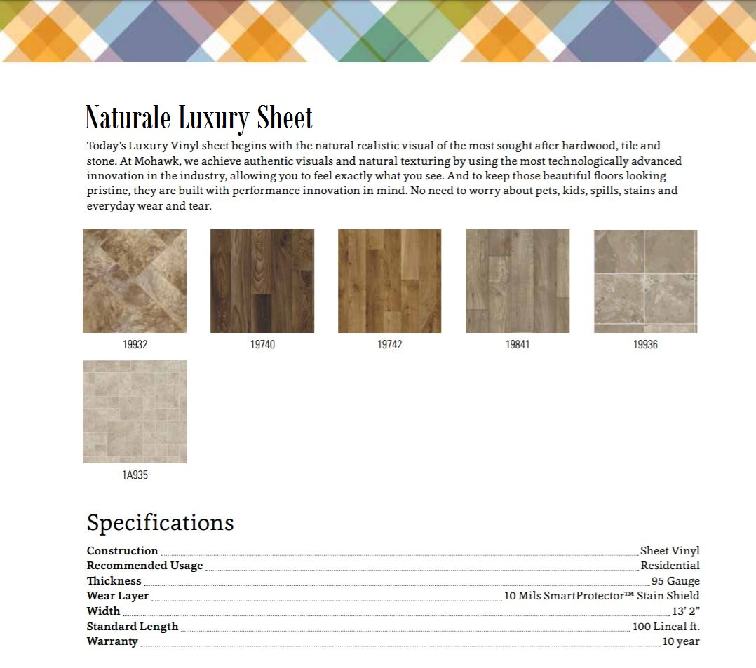 Naturale Luxury Sheet Vinyl - SPS19 - 50% OFF SALE - Color Bank
